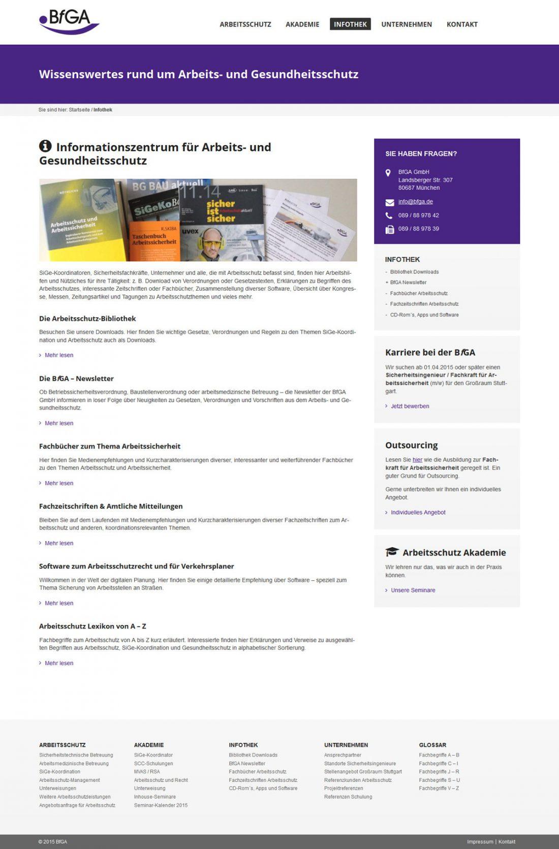 Screenshot Webseite BfGA