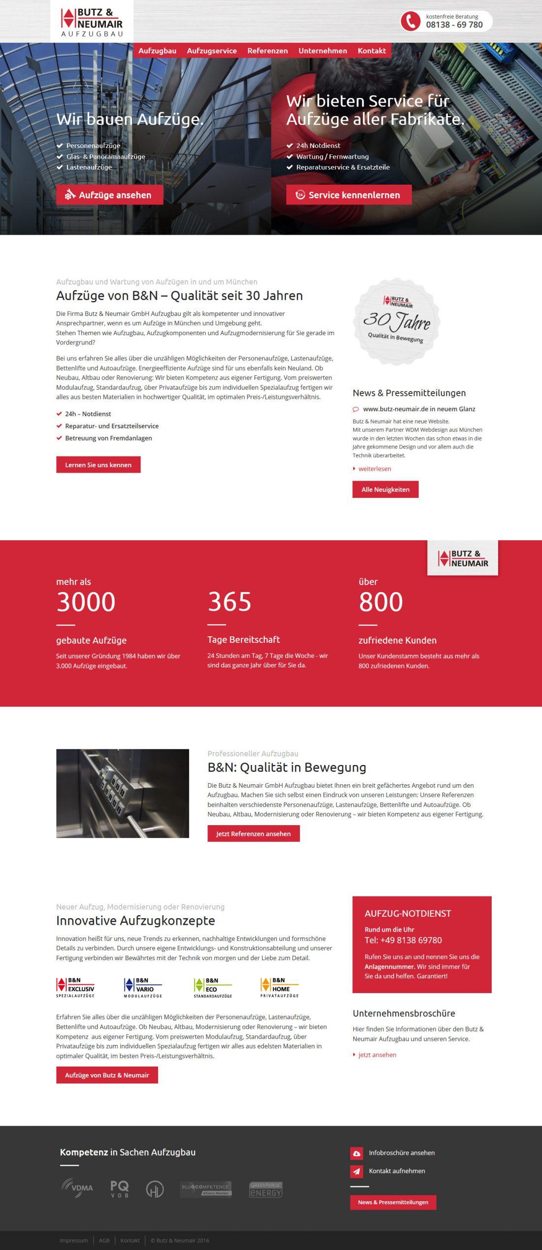 Screenshot Webseite Butz & Neumair