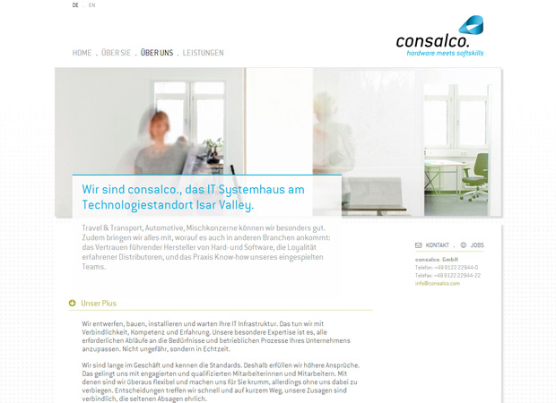 Screenshot Webseite Consalco