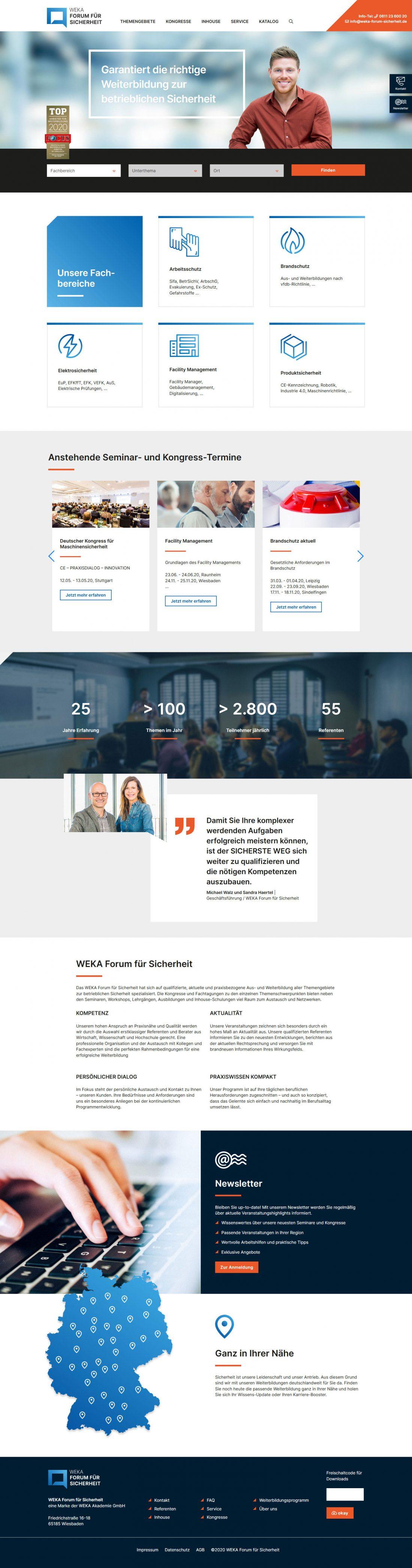 Screenshot Webseite Forum für Sicherheit