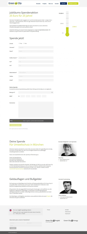 Screenshot Webseite Green City