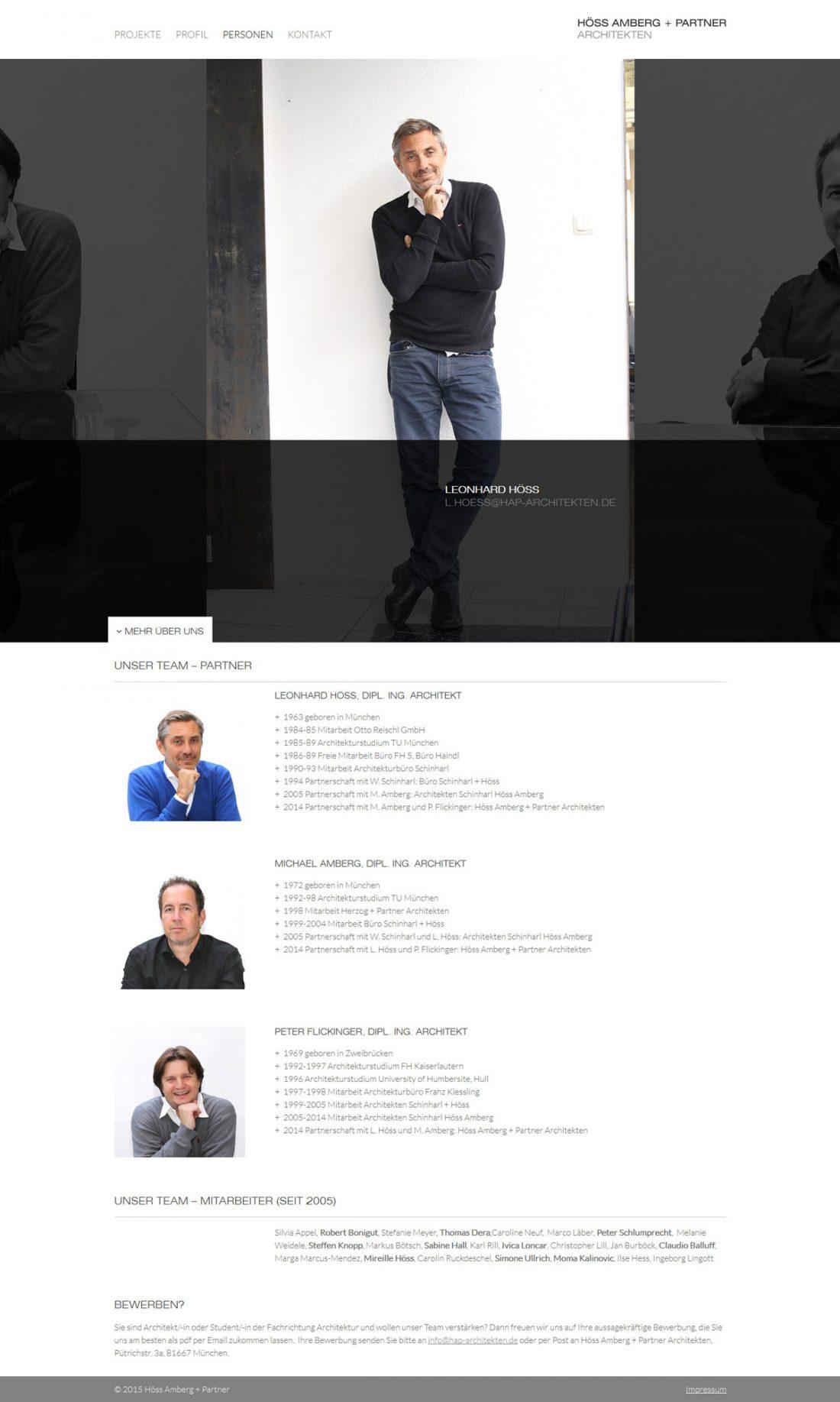 Screenshot Webseite Höss Amberg + Partner