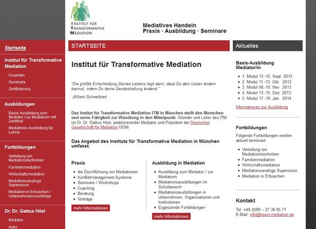 Screenshot Webseite Hösl Mediation