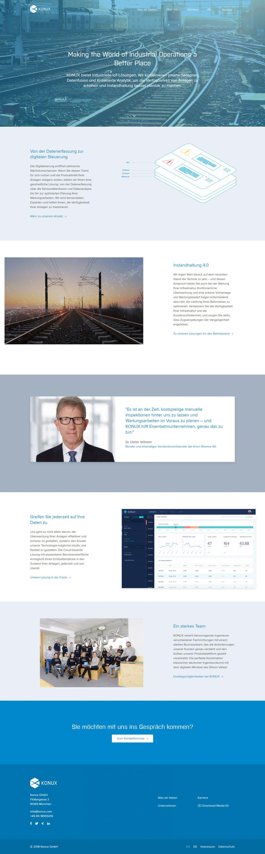 Screenshot Webseite KONUX