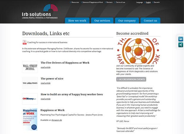 Screenshot Webseite LRB Solutions