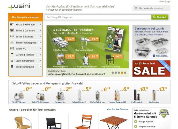 Screenshot Webseite Lusini