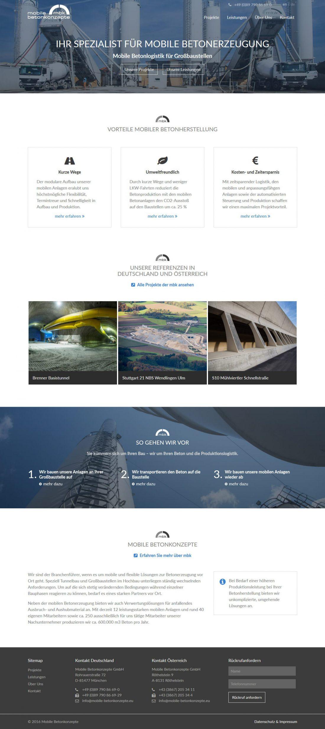 Screenshot Webseite Mobile Betonkonzepte