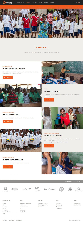 Screenshot Webseite Opportunity