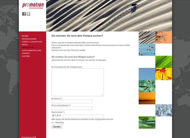 Screenshot Webseite Pro + Motion Travel