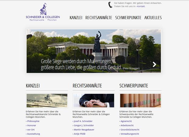 Screenshot Webseite Schneider & Collegen