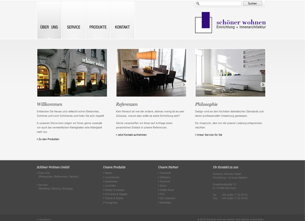 Schöner Wohnen Webdesign Agentur München
