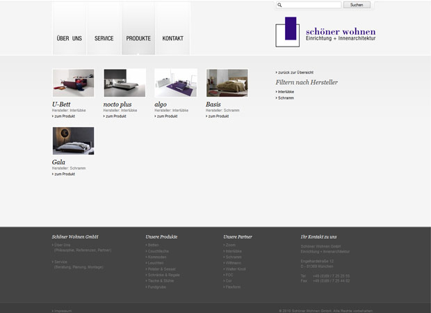 Screenshot Webseite Schöner Wohnen