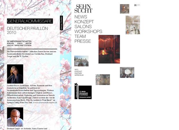 Screenshot Webseite Sehnsucht Biennale