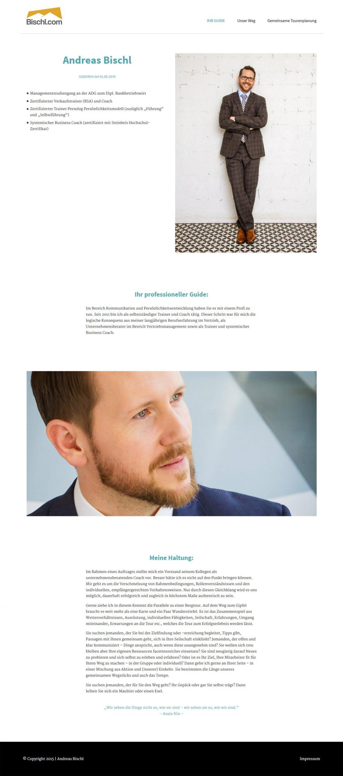 Screenshot Webseite Andreas Bischl