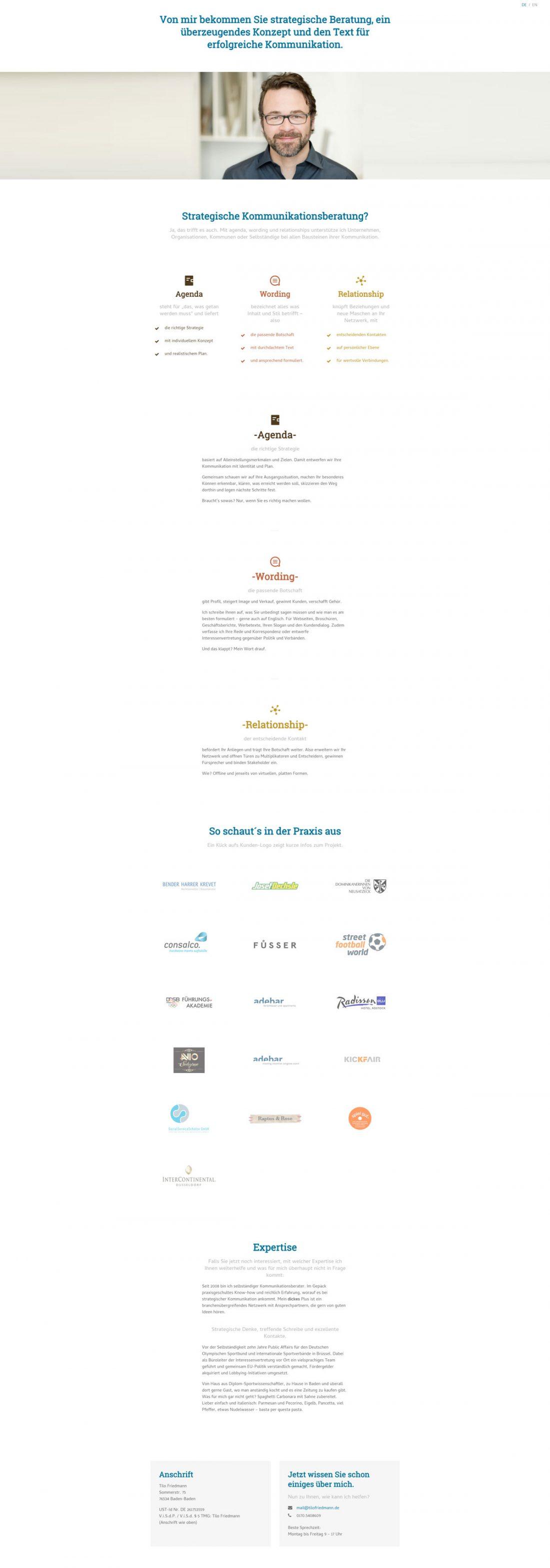 Screenshot Webseite Tilo Friedmann
