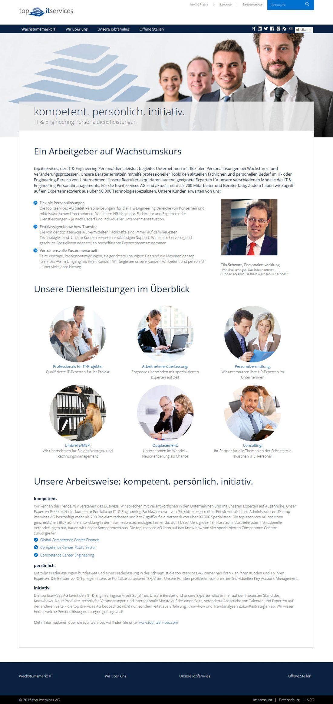 Screenshot Webseite Top IT