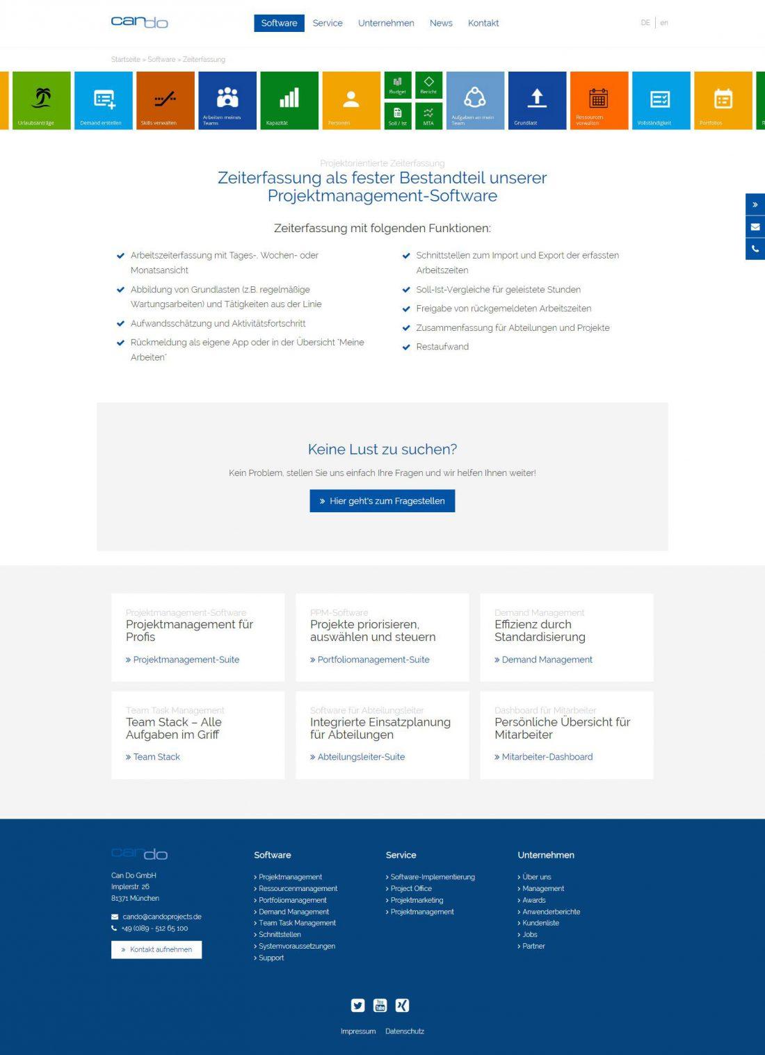 Screenshot Webseite Can Do